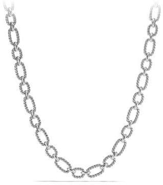 David Yurman Cushion Link Necklace With Blue Sapphires, 12.5Mm