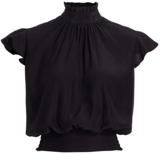 Frame Victorian Ruffle Silk Top