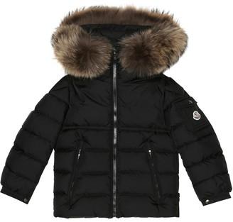 Moncler Enfant Fur-trimmed down jacket