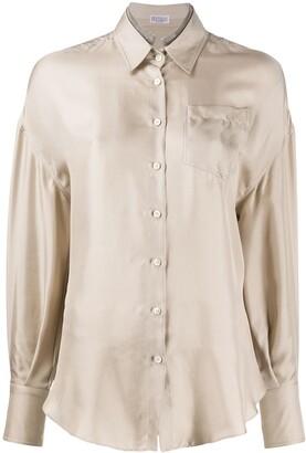 Brunello Cucinelli Fluid Long Sleeve Shirt