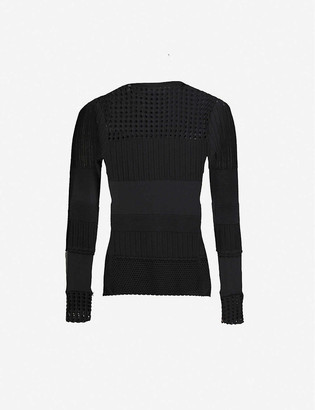 3.1 Phillip Lim Long-sleeved slim-fit cotton-blend knitted jumper
