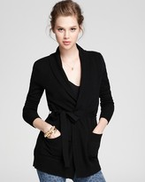 Cashmere Sweater - Wrap Cardigan with Pockets