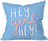 "Deny Designs Hey Girl Hey 16"" Sq. Decorative Pillow"
