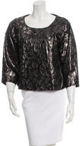 Tory Burch Collarless Patterned Jacket