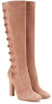 Gianvito Rossi Savoie Suede Knee-high Boots