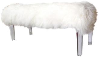 A&B Home A & B Home Mongolian Fur Bench