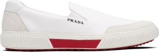 Prada Suede Panel Slip-On Sneakers