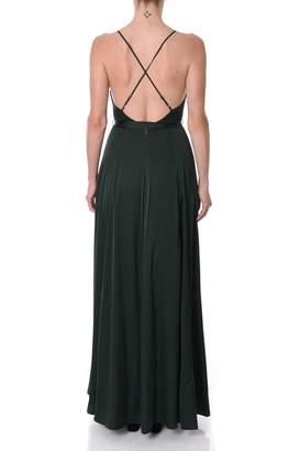 If By Sea Satin Maxi Dress