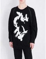 Ann Demeulemeester Bird-print Cotton Sweatshirt