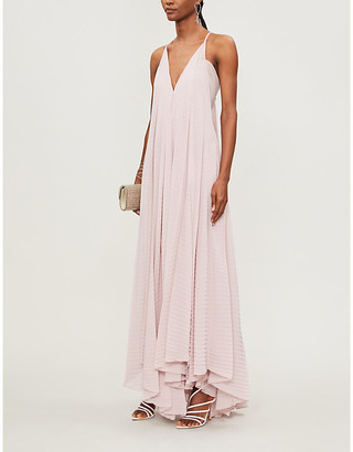 Roland Mouret Tusi pleated crepe gown