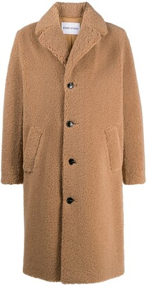 Stand Studio Frank faux-fur single-breasted coat