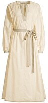 Thumbnail for your product : Tory Burch Contrast-Trim Belted Tunic Dress
