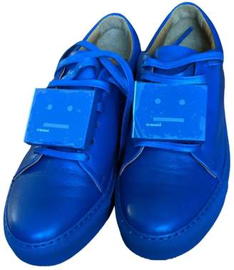 Acne Studios Blue Leather Trainers