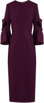 Roksanda Lavete bow-sleeved crepe midi dress