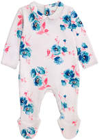 Cath Kidston Island Bunch Baby Sleepsuit With Peter Pan Collar