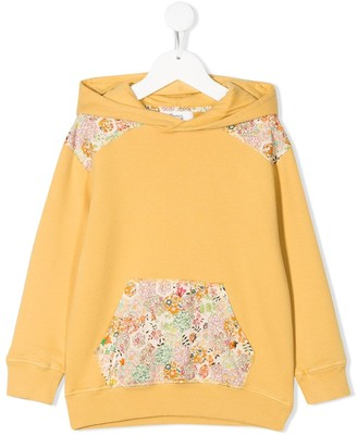Bonpoint Floral-Panelled Hoodie