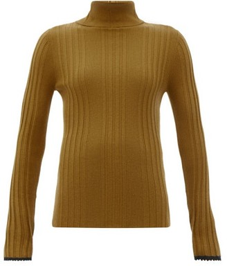 Proenza Schouler Rib-knitted Silk-blend Sweater - Brown