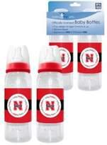 Baby Fanatic Nebraska Cornhuskers Baby Bottles - 2 Pack