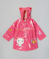Kidorable Pink Lucky Cat Raincoat - Infant & Toddler