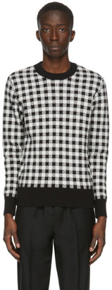Ami Alexandre Mattiussi Black and White Jacquard Gingham Sweater