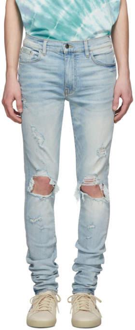 Amiri Indigo Light Thrasher Jeans