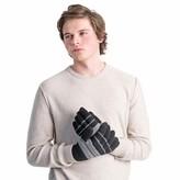 Muk Luks Men's Striped Texting Gloves