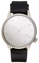 Komono Winston Mirror Leather Strap Watch, 41Mm