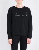 Fendi Bag Bugs-appliqué Cotton-jersey T-shirt