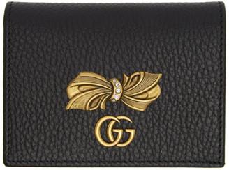 Gucci Black Bow Card Holder