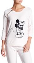 David Lerner Raglan High Low Mickey Sweater