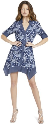 Alice + Olivia Conner Handkerchief Mini Dress