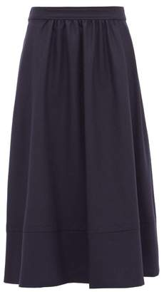 A.P.C. Margaux Wool Midi Skirt - Womens - Navy
