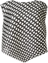 Pleats Please Issey Miyake graphic-print asymmetric top