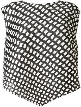 Pleats Please Issey Miyake Graphic-Print Asymmetric Top