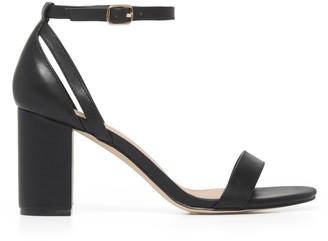 Forever New Jasmine Mid-Block Heels - Black - 36