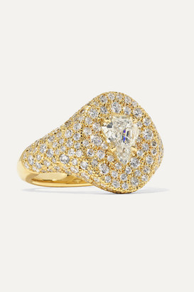 Jemma Wynne 18-karat Gold Diamond Signet Ring