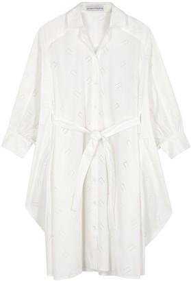Palmer Harding Poet embroidered cotton-blend shirt dress