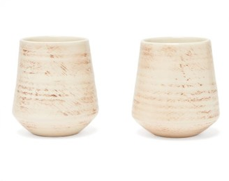 Brunello Cucinelli Set Of Two Ceramic Tumblers - Cream