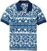 Dolce & Gabbana Capri Maiolica Polo Boy's Short Sleeve Pullover