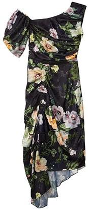Preen by Thornton Bregazzi Willabelle Dress (Black Lotus Flower) Women's Clothing