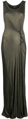 Ann Demeulemeester Ribbed Knit Lurex Dress