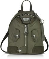 Moschino Khaki Nylon Bomber Jacket Backpack