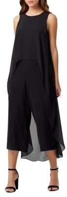 Tahari Arthur S. Levine Sleeveless Chiffon Overlay Jumpsuit