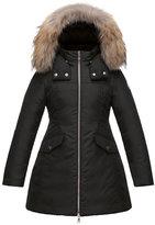Moncler Obax Hooded Down Coat, Black, Size 8-14