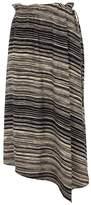 Donna Karan Stripe-print Asymmetric Skirt