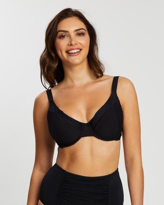 Aqua Blu Australia - Women's Black Bikini Tops - Raven D-DD Cup Bikini Top - Size One Size, 10 at The Iconic