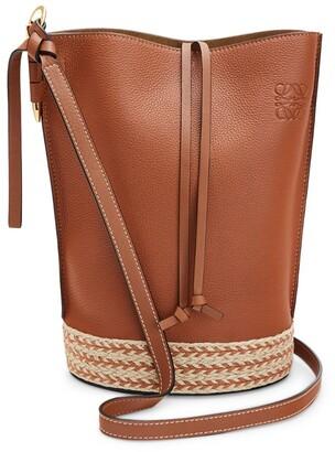 Loewe X Paula'S Ibiza Leather Gate Bucket Bag