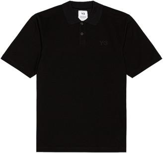 Yohji Yamamoto Pique Polo in Black | FWRD