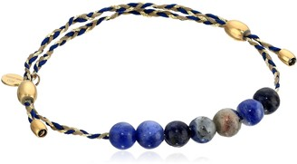 Alex and Ani Precious Threads Sodalite Gemstone Soul Blue Braid 14k Gold Plated Blue Bracelet