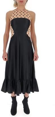 Marine Serre Moon Print Panelled Flared Dress